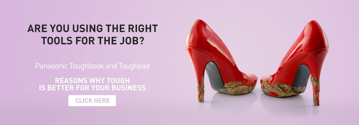 Red Stilettos with mud - Panasonic Business Singapore