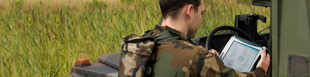 Military - soldier with Toughbook