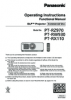 PT-RZ970 Series Operating Instructions (English)